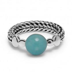BtB  Batas Sphere Stone Mint ring - mt 16,5