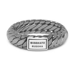 BtB Zwart Gerhodineerde Zilveren  Ben XS Ring  - maat 16