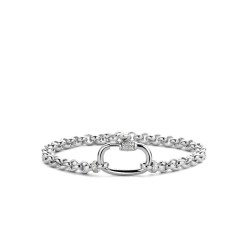 Ti Sento Zilver Gerhodineerde Jasseron Armband - 2950ZI