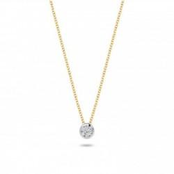 Blush Diamonds 0,035crt aan  geelgouden collier