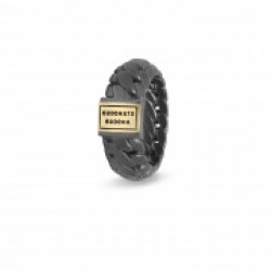 BtB Ben Small Ring Black Rhodium Gold