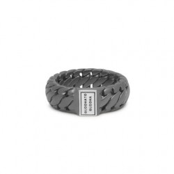 BtB Ben Small Ring Black Rhodium Silver 19