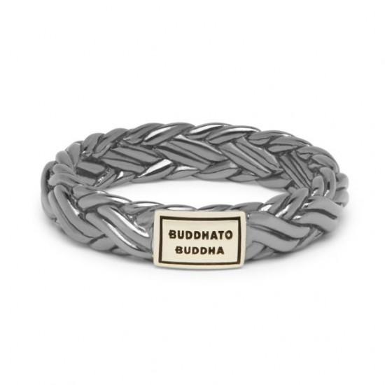 BtB Zwart Gehrodineerde Zilveren Katja XS Ring - maat 16