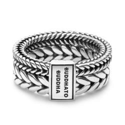BtB zilveren Barbara Double ring - maat 19