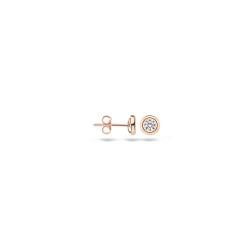 Blush rose gouden oorknopjes met zirkonia - 7126RZI
