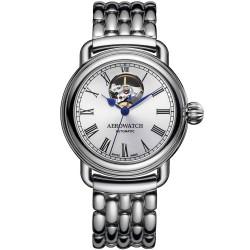Aerowatch automatisch dameshorloge, saffier, 5bar, 40mm