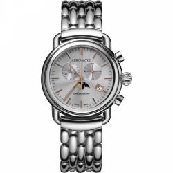 Aerowatch Bi-color dameshorloge met maanfase en chronograaf