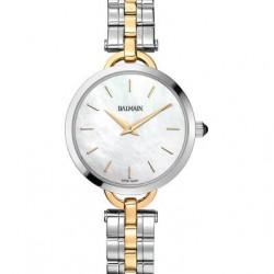 Balmain bicolor horloge met parelmoer wijzerplaat