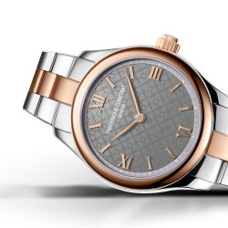 Frederique Constant Vitality Smart Watch Ladies bi-color rose met extra rubber band